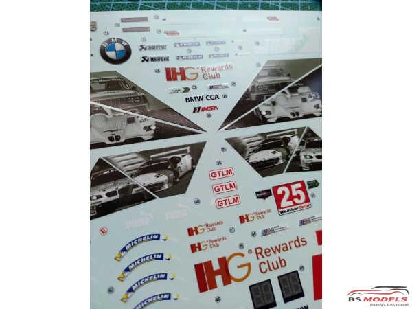 "LB24022 BMW M6 GTLM ""100th Anniversary"" 2016 IMSA Weathereck Sportscar Championship Waterslide decal Decal"