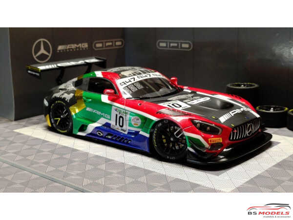 LB24026 Mercedes AMG GT3 SPS Automotive Performance Kyalami 9h 2019 Waterslide decal Decal