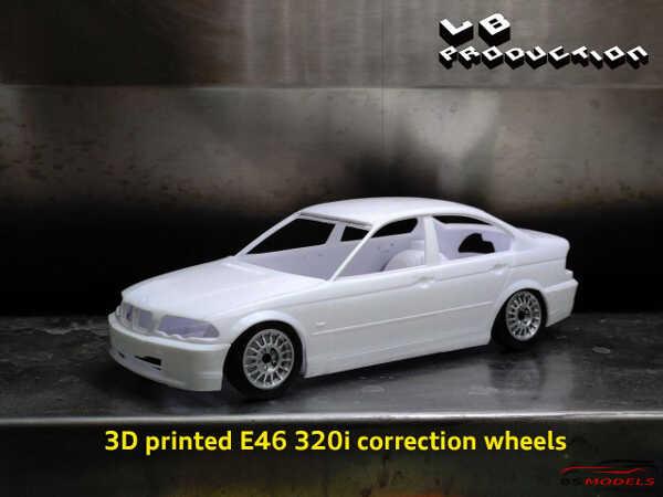 LBTK2401 BMW 320i (E46) correction wheels Resin Accessoires