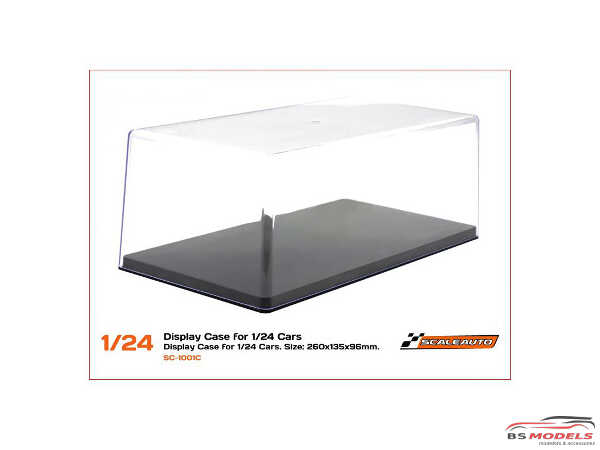 SC1001c Display case for 1/24 cars Plastic Accessoires