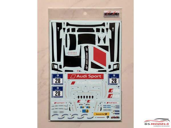 SK24104 Audi R8 LMS GT3 Nurburgring 24H 2015 (GT3 class winner) Waterslide decal Decal