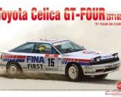 """PN24015 Toyota Celica GT4  ST165 Tour de Corse 1991  """"FINA"""" Plastic Kit"""