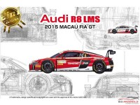 PN24024 Audi R8 LMS FIA GP Macau 2015 #6 #7  (2in1 decal) Plastic Kit