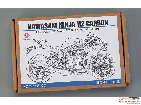 HD020407 Kawasaki Ninja H2 Carbon Detail set For TAM 14136 Multimedia Accessoires