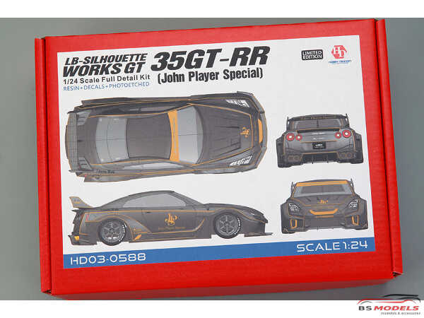 "HD030588 LB-Silhouette Works GT 35GT-RR  ""John Player Special""  Full Detail kit Multimedia Kit"