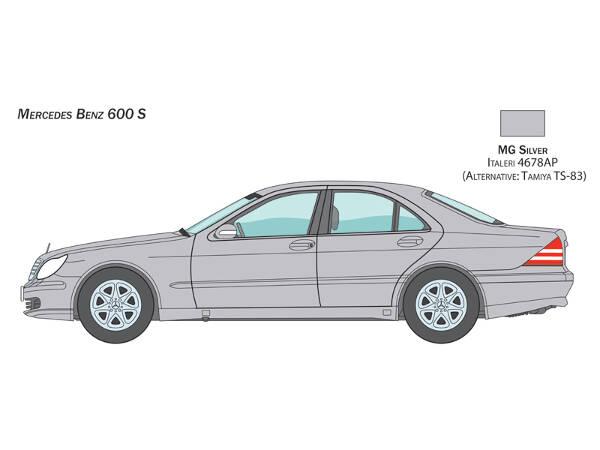 ITA3638S Mercedes-Benz 600S Plastic Kit