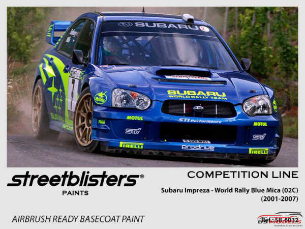 SB306032 Subaru - World Rally Blue Mica Paint Material