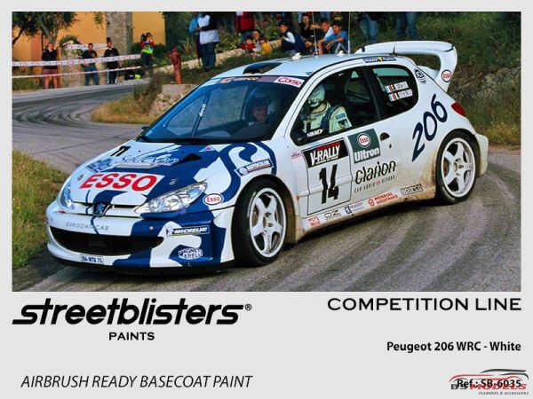 SB306035 Peugeot 206 WRC  white Paint Material