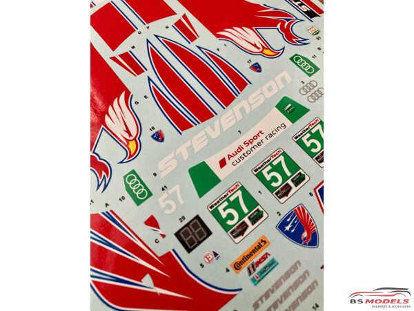 SK24119 Audi R8 LMS GT3 IMSA Daytona 24H 17  #57  Stevenson Motorsports Waterslide decal Decal