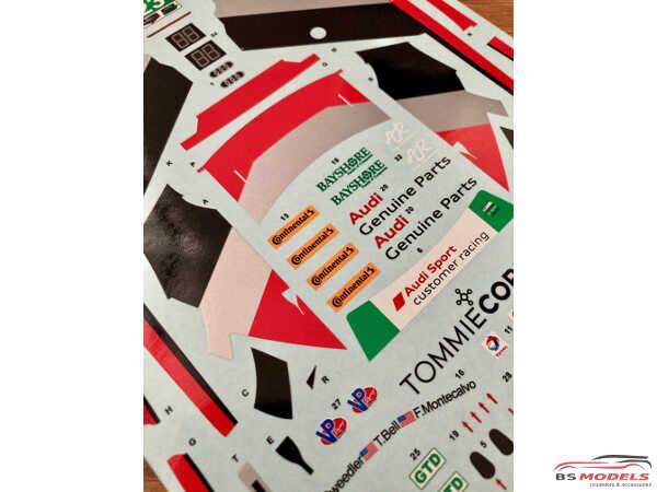 SK24120 Audi R8 LMS GT3 IMSA Daytona 24H 17 #23 Alex Job Racing Waterslide decal Decal