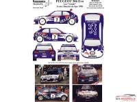 """TK24474 Peugeot 306 Maxi EVO  """"Les Vandes""""  3e Boucles de Spa 1998 Waterslide decal Accessoires"""