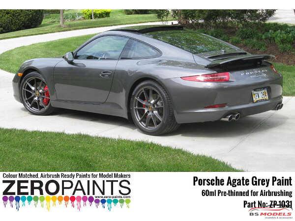 ZP1031-M7S Porsche Agate Grey Mettalic M7S  Paint 60 ml Paint Material