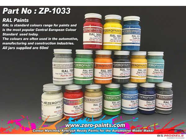 ZP1033-5002 RAL 5002 Ultramarine Blue Paint 60 ml Paint Material