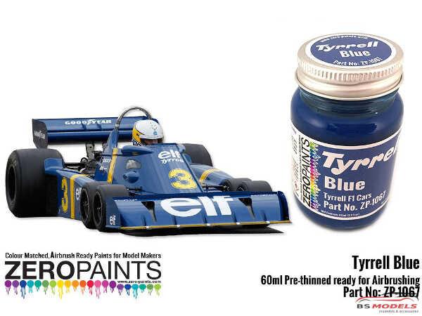 ZP1067-30 Tyrrell Blue Paint 30 ml Paint Material