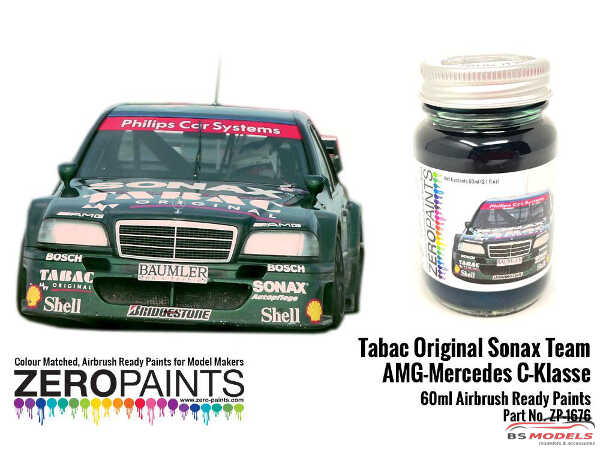 ZP1676 Tabac Original Sonax Team AMG Mercedes C-klasse  60 ml Paint Material