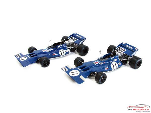 EBR20007 Tyrrell 003  Stewart - Cevert   Monaco 1970 Plastic Kit
