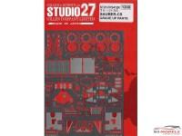 STU27FP2412R Sauber C9  Grade Up Parts (For Tamiya) Etched metal Accessoires