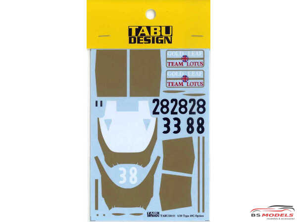 TABU20155 Lotus Type 49C option decal (For EBB) Waterslide decal Decal