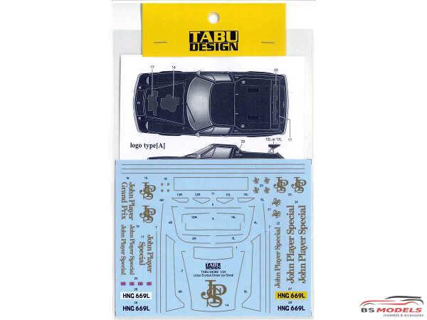 "TABU24089 Lotus Europa Dress Up Decal  ""JPS"" Waterslide decal Decal"