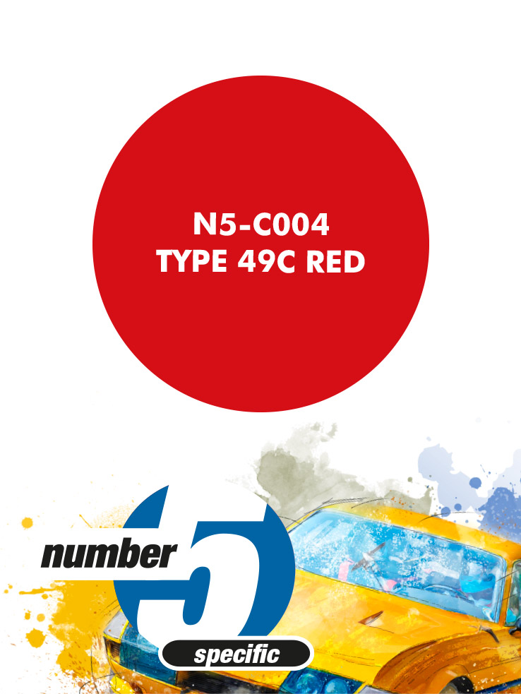 N5C004 Type 49C Red Paint Material