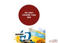 N5C007 Cooper 1300 Red Paint Material