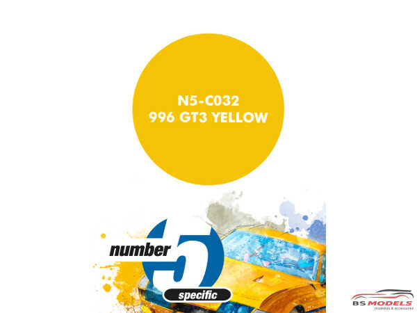 N5C032 996 GT3 Yellow Paint Material