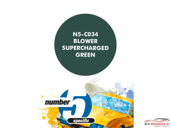 N5C034 Blower Supercharged Green Paint Material