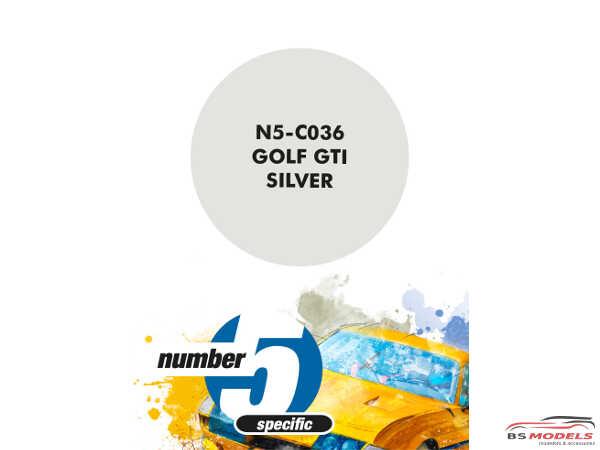 N5C036 Golf Gti Silver Paint Material