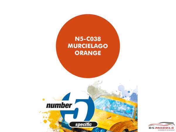 N5C038 Murcilago Orange Paint Material
