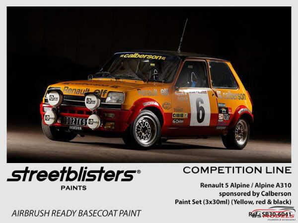 SB306041 Renault 5 Alpine Calberson paint set 3x 30ml Paint Material