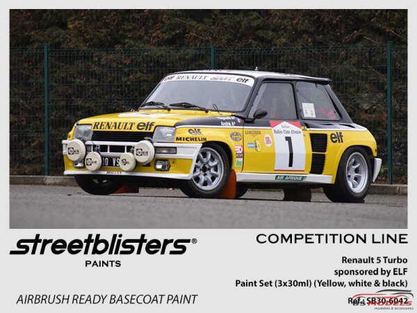 SB306042 Renault 5 Turbo ELF  paint set  3x 30ml Paint Material
