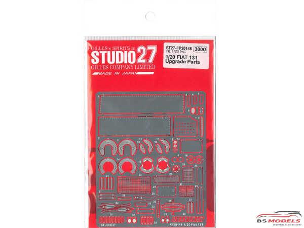 STU27FP20146 Fiat 131 upgrade parts Etched metal Accessoires