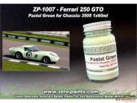 ZP1007-17 Pastel Green for 1962 Ferrari 250 GTO  chassis 3505GT  60ml Paint Material