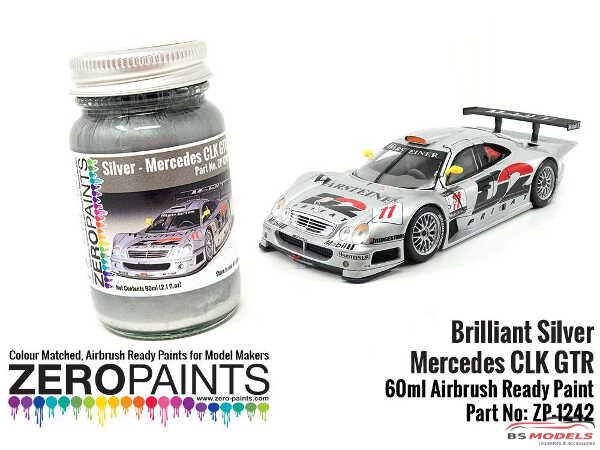 ZP1242 Mercedes CLK  GTR  Brilliant Silver paint 60ml Paint Material