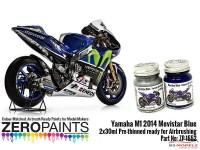 ZP1552 Yamaha M1  2014  Movistar Blue paunt set  2x30ml Paint Material