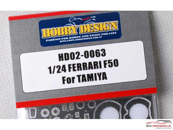 HD020063 Ferrari F50   PE detail set Etched metal Accessoires