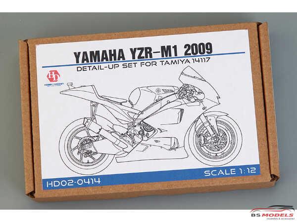 HD020414 Yamaha YZR-M1  2009  Detail up set FOR TAM 14117 Multimedia Accessoires