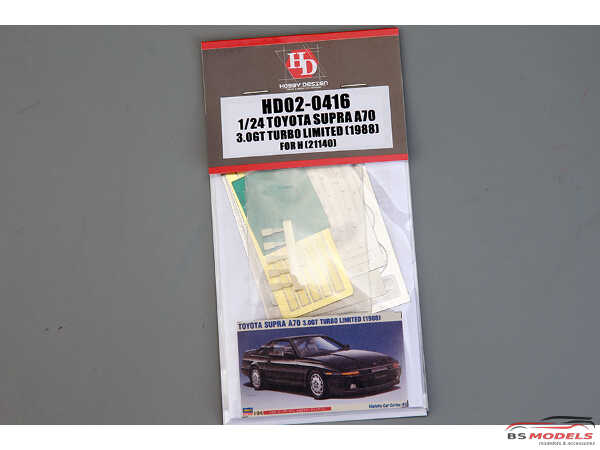 HD020416 Toyota Supra A70  3.0 GT Turbo (1988)  FOR HAS 21140 Etched metal Accessoires