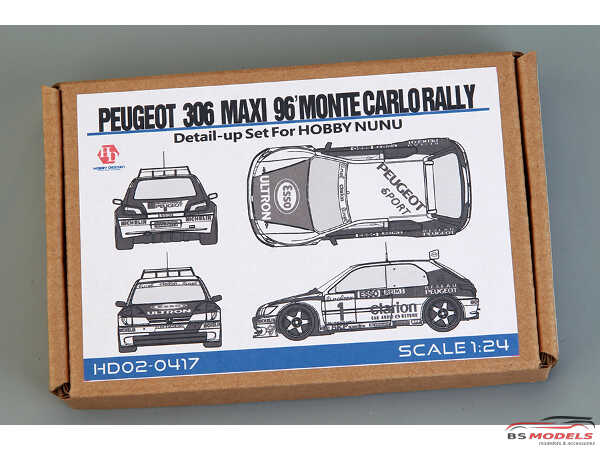 HD020417 Peugeot 306 Maxi '96  Monte Carlo Rally  detail up set For NuNu 24009 Multimedia Accessoires