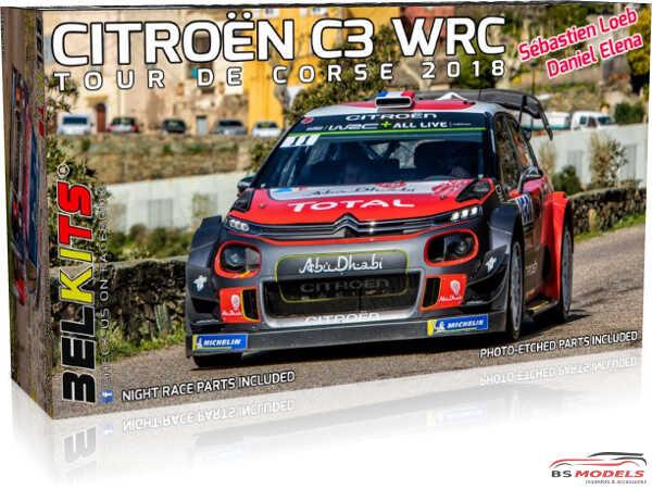 BEL017 Citroën C3 WRC 2018  Loeb / Elena  Tour De Corse 2018 Plastic Kit