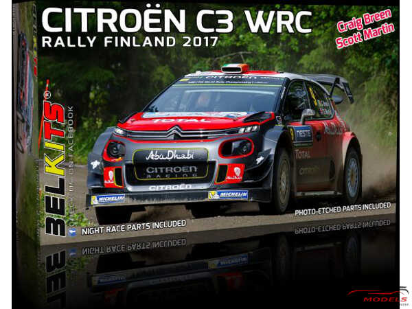 BEL018 Citroën C3 WRC 2017  Breen / Martin  Rally Finland 2017 Plastic Kit