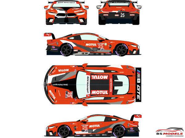 RDE24042 BMW M8 GTLM #25  IMSA  Hyundai Monterey Sportscar Championship 2020 / Rolex 24h of Daytona 2021 Waterslide decal Decal