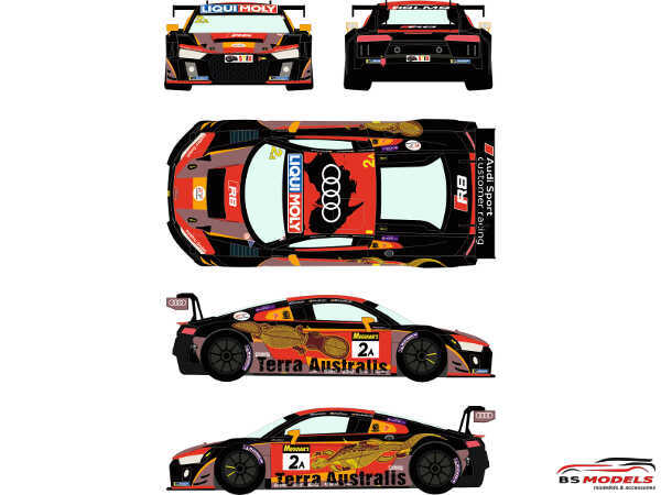 RDE24048 Audi R8 LMS  GT3  #2A  Liqui Moly 12h of Bathurts 2016 Waterslide decal Decal