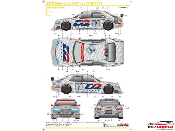 SK24127 AMG Mercedes C-Class  DTM 1994 Waterslide decal Decal