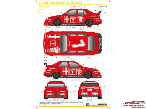 SK24128 Alfa Romeo 155 V6 Ti  DTM 1993 Waterslide decal Decal