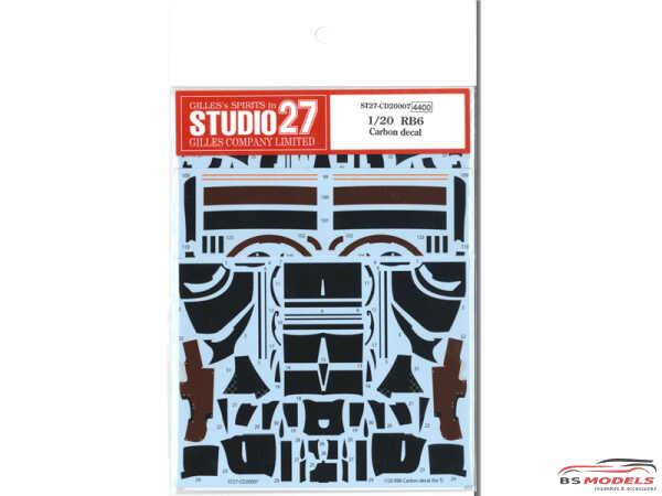 STU27CD20007 RB6 Carbon decal  (For TAM 20067) Waterslide decal Decal