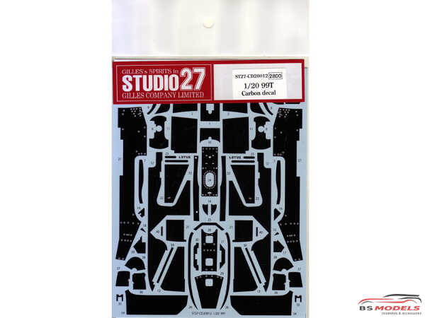 STU27CD20012 Lotus Type 99T Carbon decal  (FOR TAM) Waterslide decal Decal