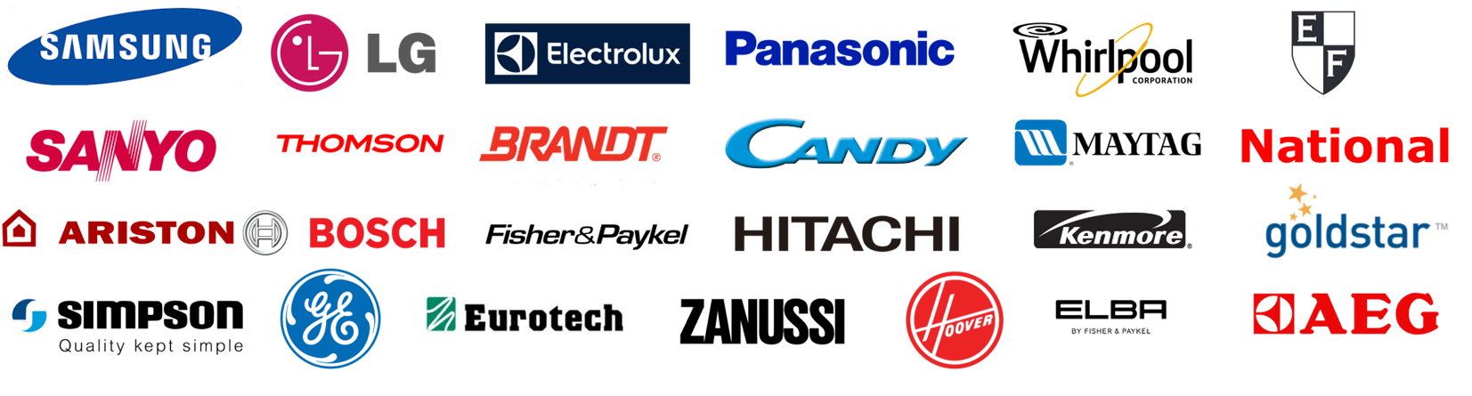 major brands we repair