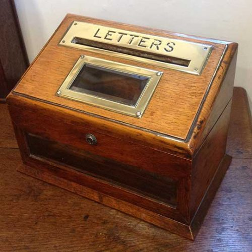 letter box Burfields antiques and art