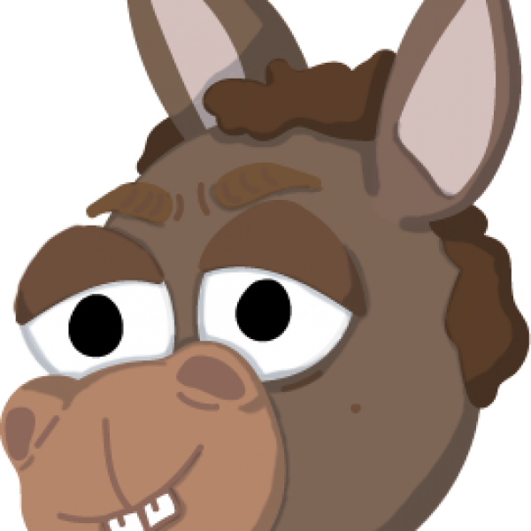 Cartoon Donkey Head Vector